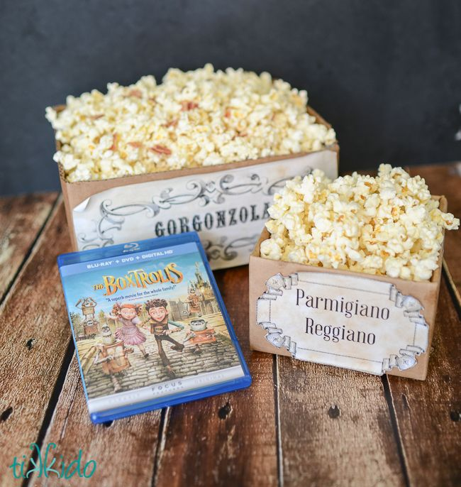 Movie Night with The Boxtrolls and Pop Secret Popcorn and CHEESE and Free Printables | Tikkido.com