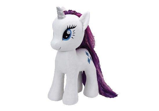My Little Pony, précédemment connu sous les nomsMon petit poneyen France etMa petite poulicheau Québec, est une marque de jouets en forme de petits poneys.Peluche Rarity largeRarity est une licorne femelleet l'un despersonnagesprincipaux deMy Little Pony: Les amies, c'est magique.