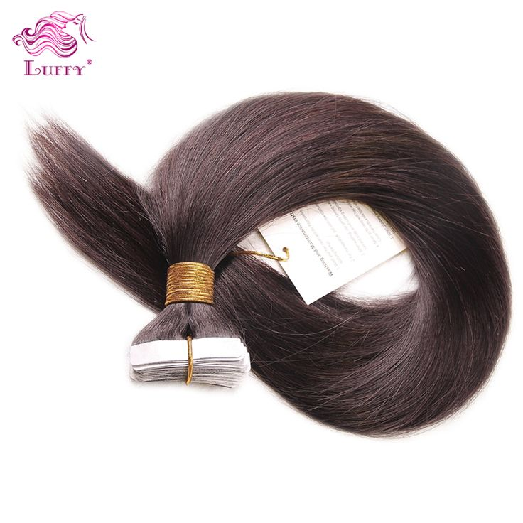 Wholesale Remy Tape Hair Extensions 40pcs Lot 16 24inch In Human Extension Straight Brazilian PU Skin Weft St 20150928 3