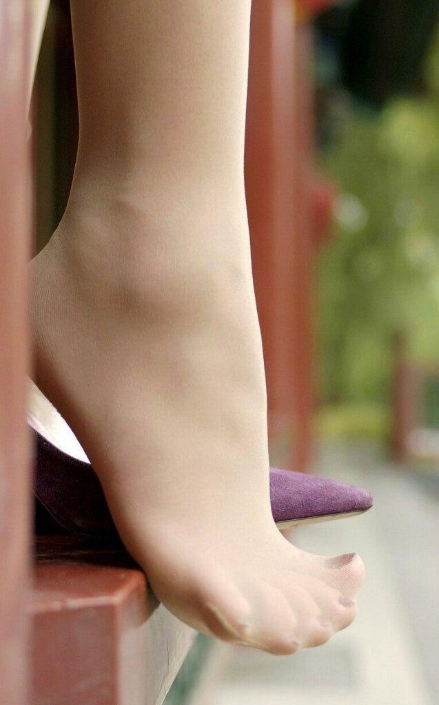 Footjobs in socks pantyhose