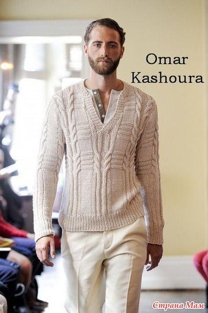 Пуловер-поло от Оmar Kashoura