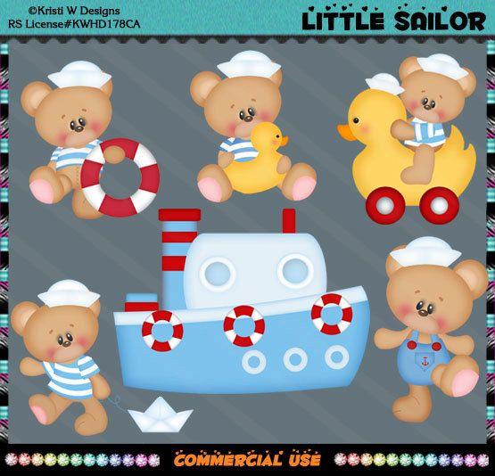 Marshmallow Honey Little Sailor Teddy Bear Nautical by CapZone