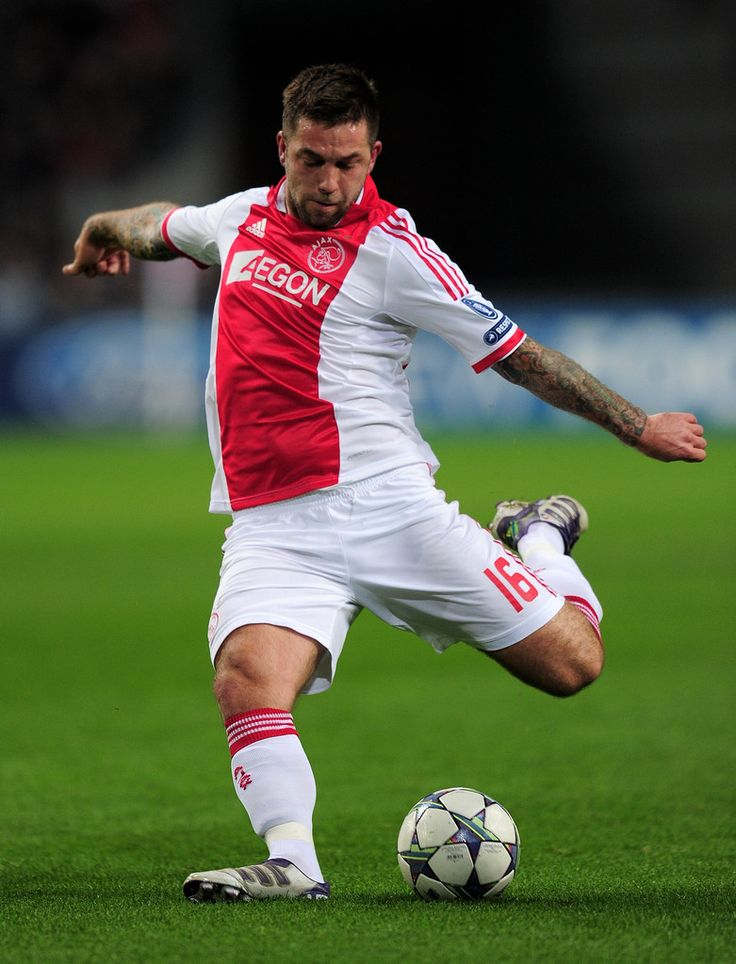 Theo Janssen Photos Photos - Theo Janssen of Ajax in action during the UEFA Champions League group D match between AFC Ajax and GNK Dinamo Zagreb at the Amsterdam Arena on November 2, 2011 in Amsterdam, Netherlands. - AFC Ajax v GNK Dinamo Zagreb - UEFA Champions League