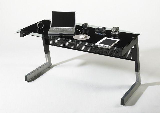 Glasschreibtisch Andre II - 2 Farben Zeitlos moderner Schreibtisch in 2 unterschiedlichen Farbvarianten erhältlich 1 x Schreibtisch mit Glasplatte Material:...