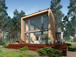 Moderne häuser mit viel glas  15 besten Beton Holz Glas Bilder auf Pinterest | Holz, Eingang und ...