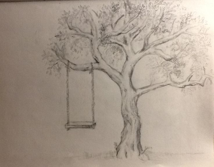 The lighting is horrible, but ta-da! It's a tree. With a swing.