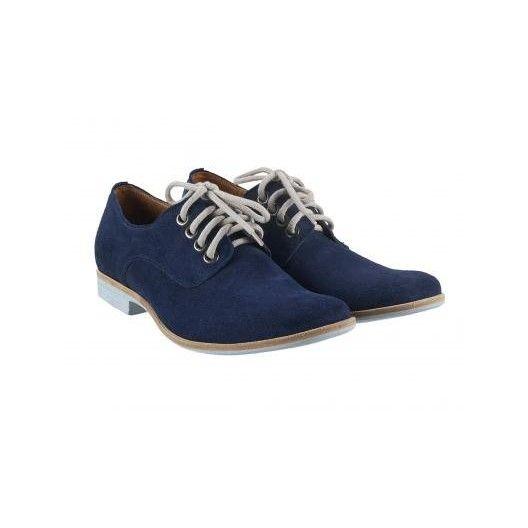 Pánske kožené topánky modré PT007 - manozo.hu