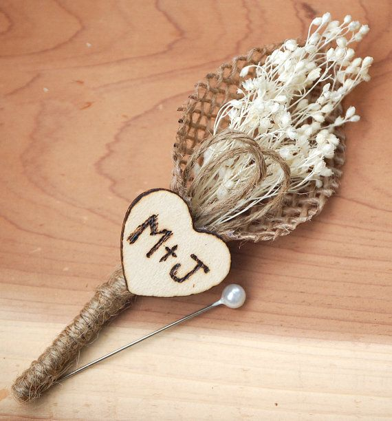 Hey, I found this really awesome Etsy listing at https://www.etsy.com/listing/222557200/rustic-heart-wedding-boutonniere-with