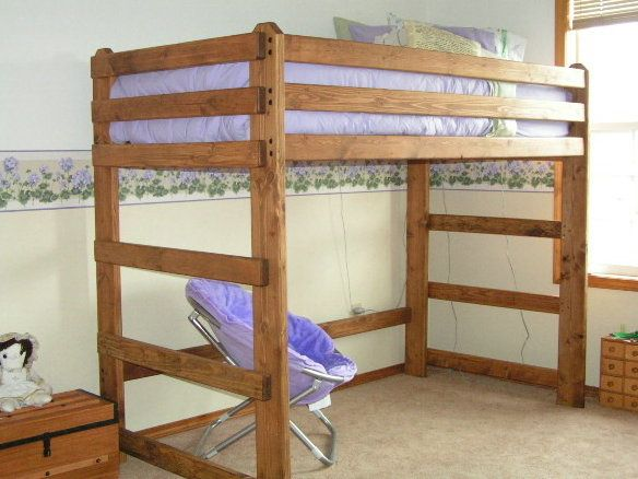 find this pin and more on diy queen loft bed - Loft Bed Frame Queen