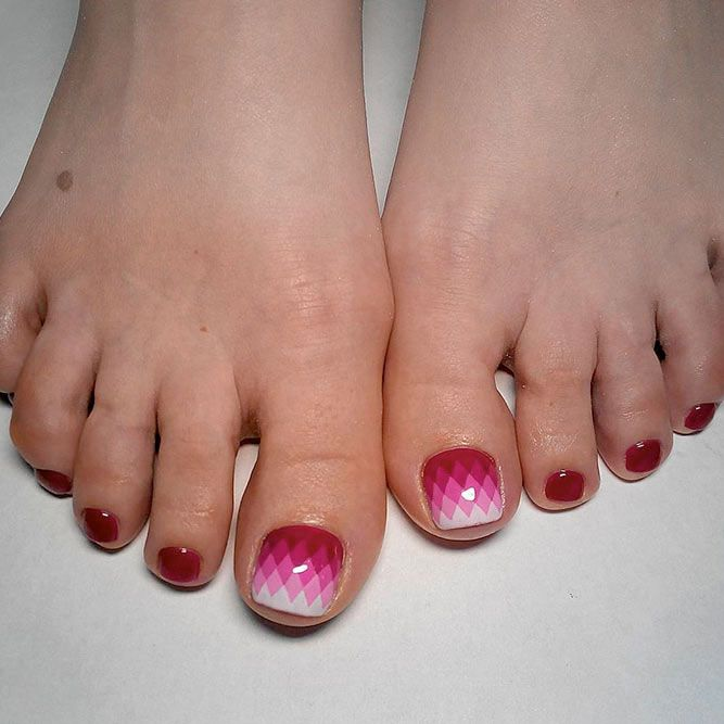 21 Chic Toe Nail Designs to Complete Your Image ❤ Gorgeous Red Polishes for the Perfect Pedicure picture 2 ❤ Next time you go to the nail salon pick the most glamorous toe nail design to show off how cool you are. Get the inspo here. https://naildesignsjournal.com/chic-toe-nail-designs/ #naildesignsjournal #nails