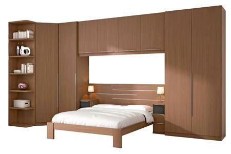 Cama con armario incorporado camas pinterest - Armario con cama ...