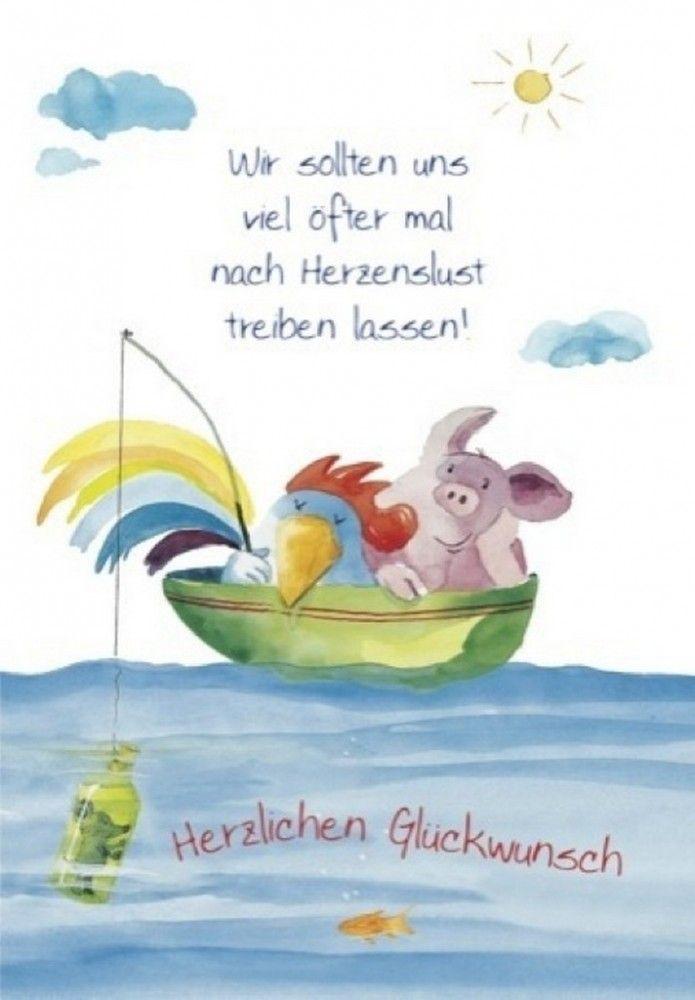 Herzlichen Glückwunsch! -Klappkarte Grußkarte von Helme Heine