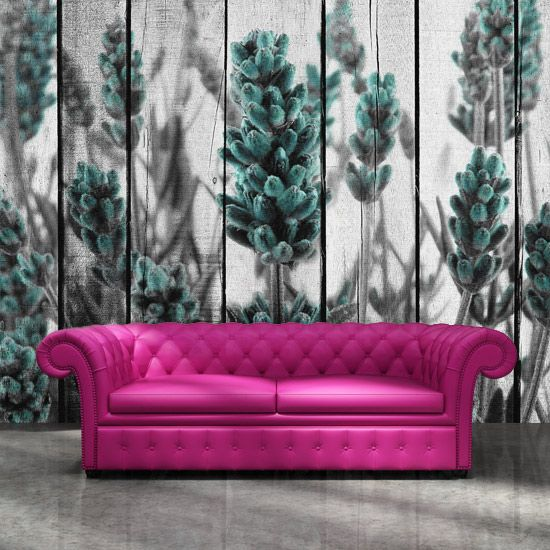 Wood textured lavender wall design