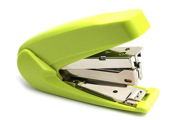 Kokuyo Racchikisu Stapler - Yellow Green