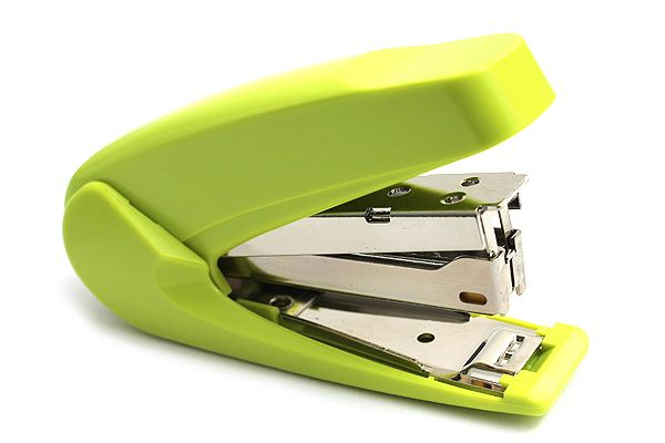 Kokuyo Racchikisu Stapler - Yellow Green