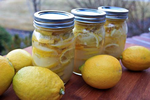 They will stay wonderful at least a month in the fridge. This isn't a typical canning recipe, where you can set them on the shelf for months, so don't try it. Keep those canned lemons refrigerated.    Ingredients for Canned/Preserved Lemons:  8 lemons (for 3 pint size jars),  2-3 cups sugar,  3 pint size glass jars