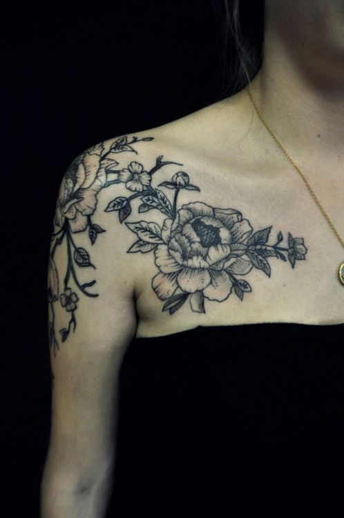 girl shoulder tattoos ideas | Tumblr
