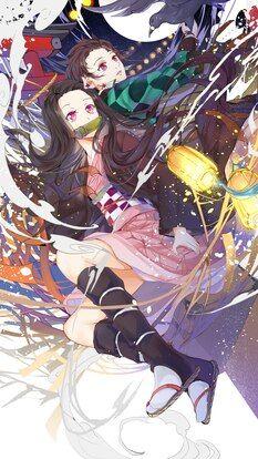 Nezuko, Tanjiro, Kimetsu no Yaiba, 4K, HD Mobile and