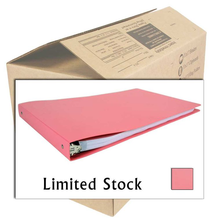 "CASE 11x17 Binder - 1"" Round Ring Poly (Pink)"