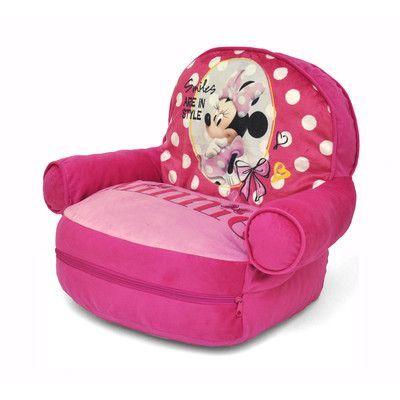 Minnie Mouse Kids Bean Bag Arm Chair with Bonus Sleeping Bag - http://delanico.com/bean-bag-chairs/minnie-mouse-kids-bean-bag-arm-chair-with-bonus-sleeping-bag-640749203/