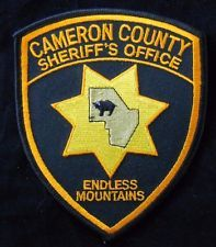 Cameron County Pennsylvania Sheriff's Department Patch