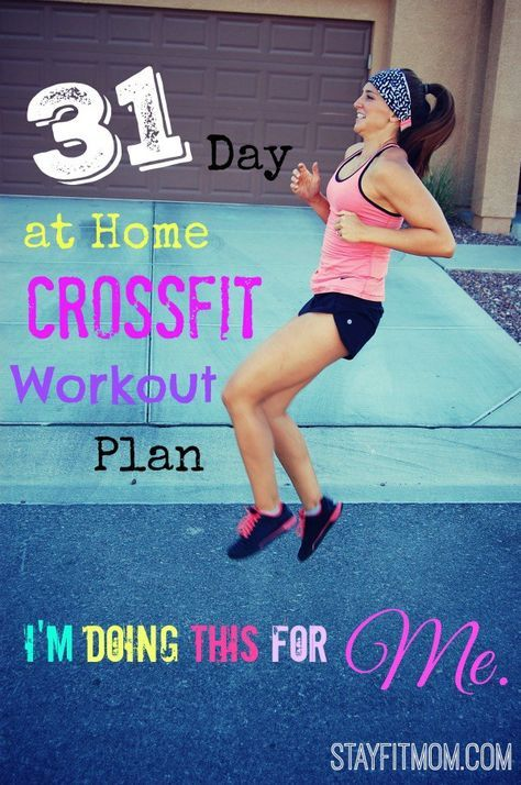 Starting January off with a bang with this 31 Day At Home CrossFit Workout Plan from StayFitMom.com!