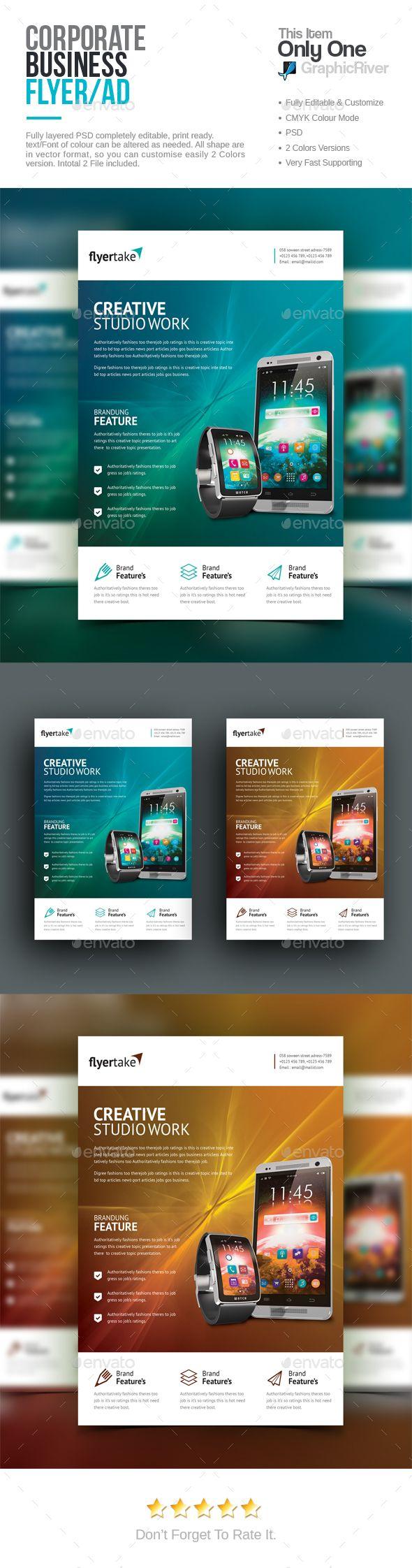 Corporate Flyer Design - Corporate Flyer Template PSD. Download here: https://graphicriver.net/item/corporate-flyer/16952087?s_rank=12&ref=yinkira