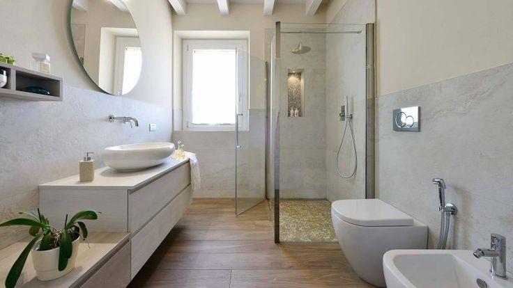 Bad ohne Fliesen Ideen für Wandgestaltung