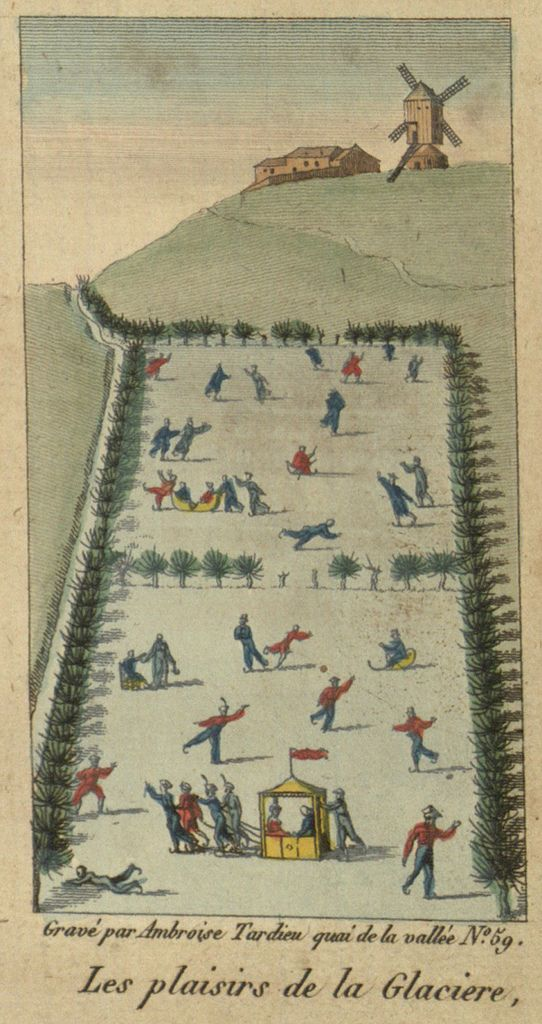 The pleasures of 19th C ice skating, Villanova Digital Library via Public Domain Review