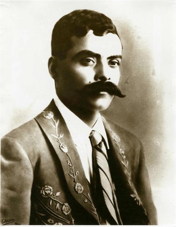 """Agustin Victor Casasola (Mexican, 1874 - 1938). """"Emiliano Zapata Traje y Corbata""""."""