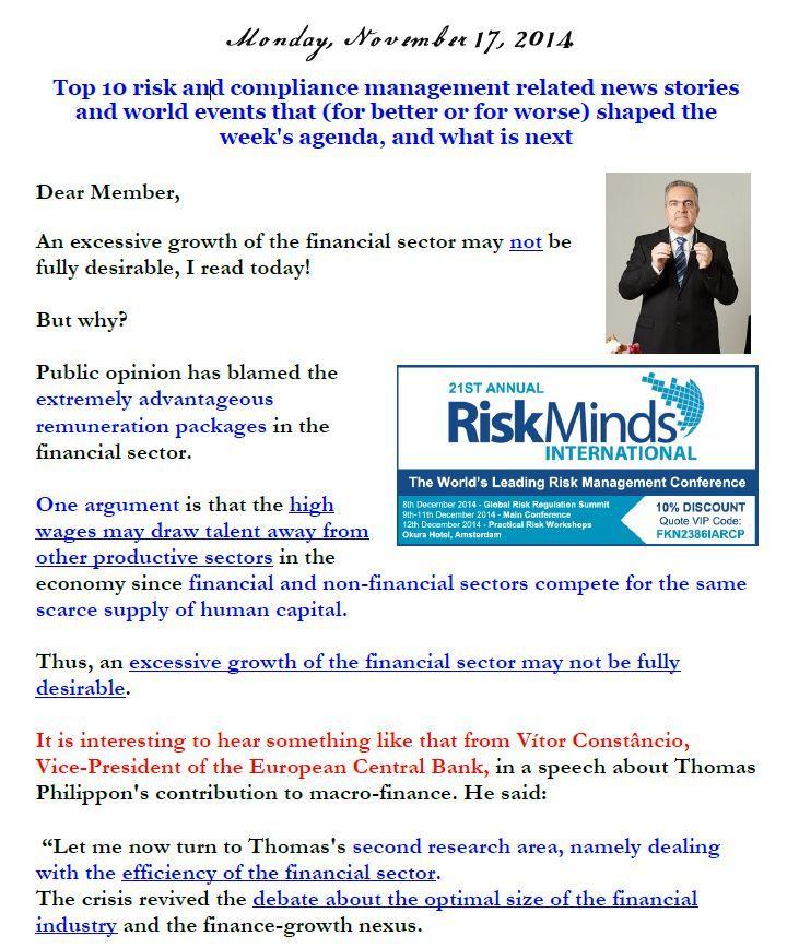 Newsletter, November 17, 2014