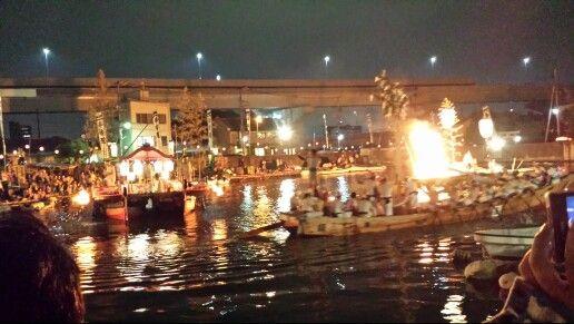 江波の火祭り