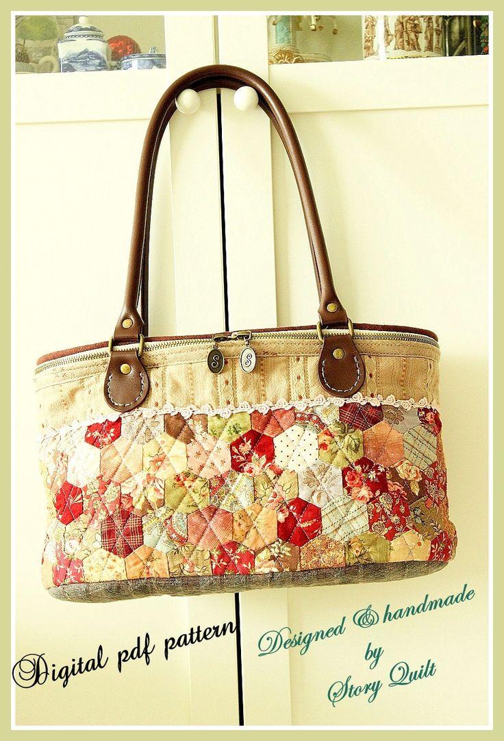 Digital Sewing Pattern Bag Pattern Applique Quilt