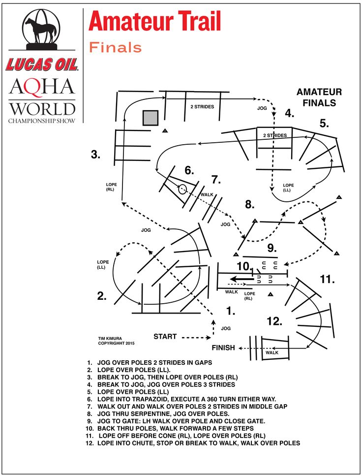 Amateur trail finals pattern from the 2015 Lucas Oil AQHA World Championship Show