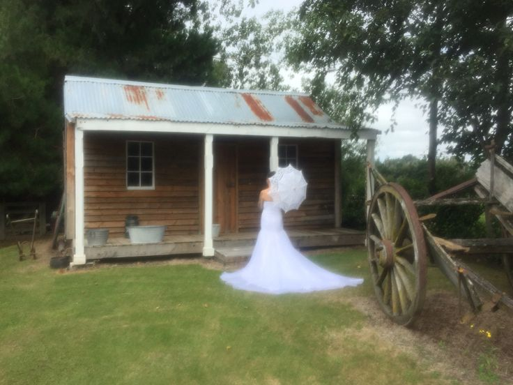 One of many, many places to take your photos at Westhaven Chapel and Gardens' beautiful surrounds. The rustic backdrop was a truly great contrast to Amanda & Anthony's ink.