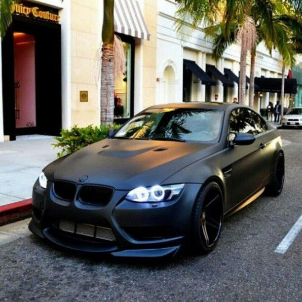 Matte Black BMW M3 - I see this car go pass me almost every week in the highway and every time I look/hear it I want it more and more!!