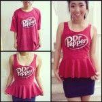 DIY T-shirt into Peplum Top