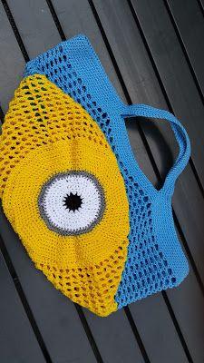 Miniontasje (met link naar gratis patroon) / Minionbag (with link to free pattern)
