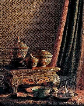 Stock Photo #1890 95649, Bencharong Wares From The Ayutthaya Period,  Classic Thai