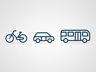Transportation icons | http://dribbble.com/shots/689284-Transportation-icons
