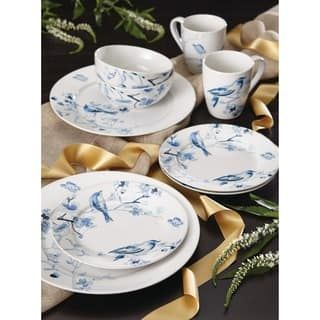 Paula Deen Dinnerware Indigo Blossom 16-Piece Stoneware Dinnerware Set OVERSTOCK.COM