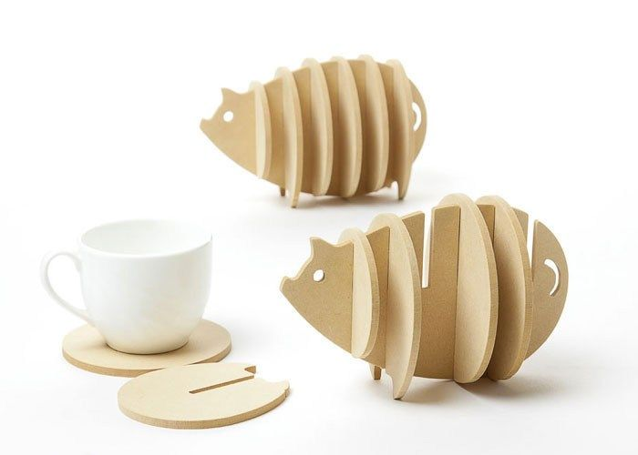 Non-heat Pine MDF coasters creative Place mat/office supplies coffee cup Mat Home Decor DIY handmade coaster simple animal shape //Price: $12.95 & FREE Shipping //     #hashtag1