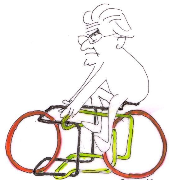 Lacan dibujado por PERIDIS. El original está en mi consulta.