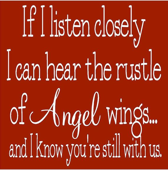 If I listen closely......wish I could hear them....