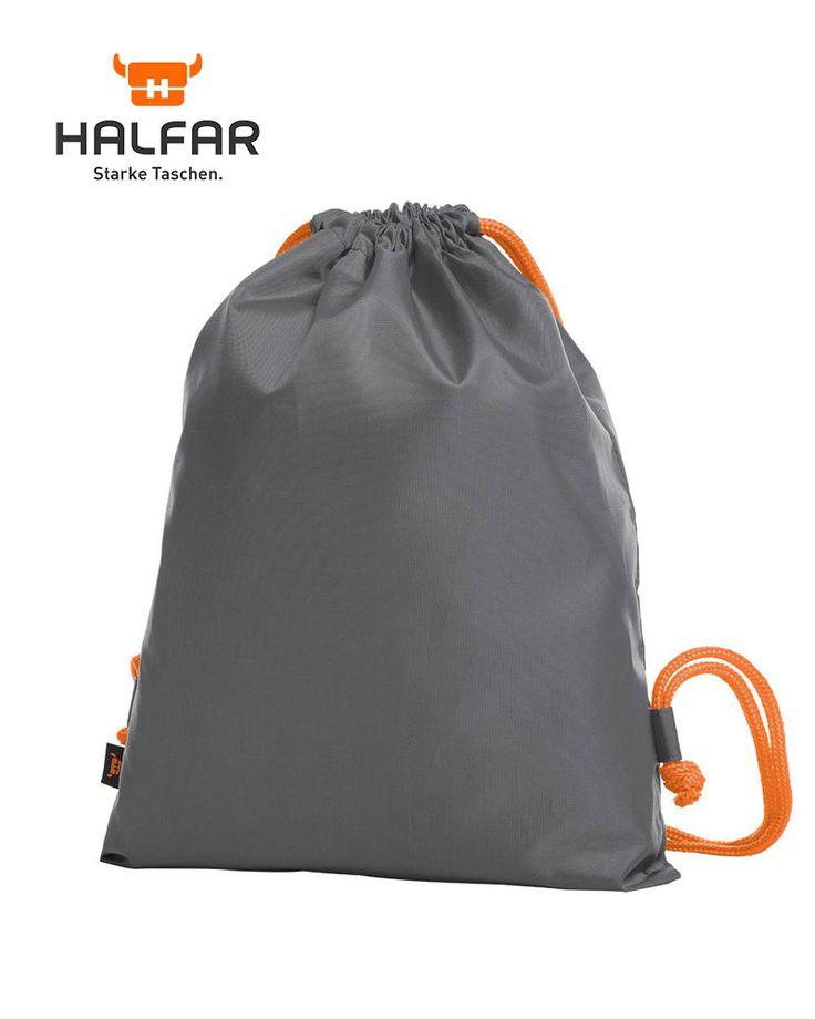 sacca-portascarpe-Halfar-con-cordini-colorati-H1813060-grigio-medio