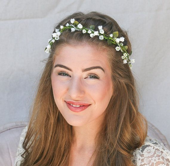 Lily of the Valley Flower Crown Wedding Hair by BeSomethingNew, $45.00