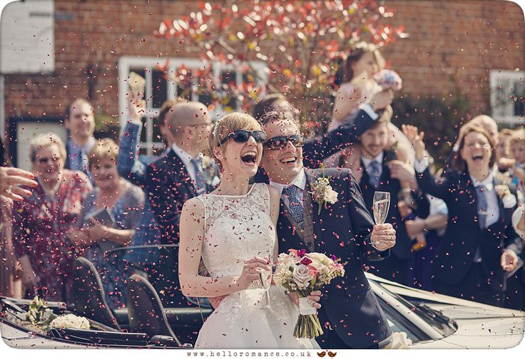 Wedding Guests at fun Suffolk wedding - www.helloromance.co.uk