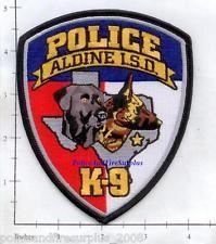 Texas - Aldine Independent School District K-9 TX Police Dept Patch