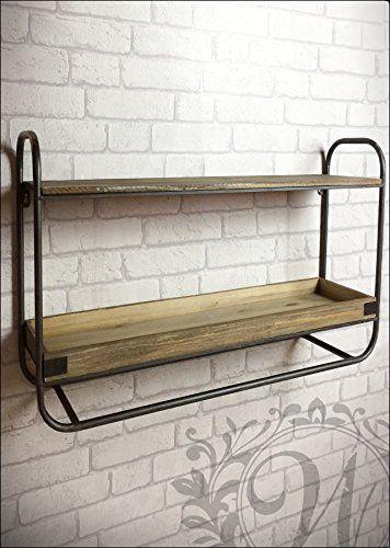 ca. 44cm Höhe und 83cm breit und 20cm tief.  Regal im industriellen Stil Einheit.  Aus Metall und Holz.