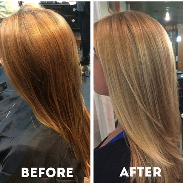 L Anza Stylist Meghan Took Her Client S Hair To A Golden